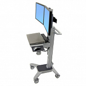 Рабочее место Ergotron 24-194-055,  Neo-Flex Dual WideView WorkSpace Cart